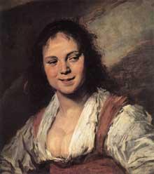 Franz Hals: jeune fille tzigane. 1628-1630. Huile sur bois, 58 x 82 cm. Paris, Musée du Louvre