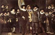Thomas de Keyser: la compagnie de miliciens du capitaine Allaert Cloeck. 1632. Huile sur toile, 220 x 351 cm. Amsterdam, Rijksmuseum