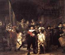 La ronde de nuit. 1642. Huile sur toile, 363 x 437 cm. Amsterdam, Rijksmuseum