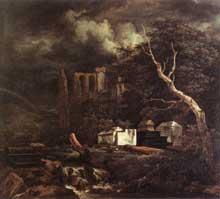 Jacob Ruijsdael: le cimetière juif. 1655-1660. Huile sur toile, 84 x 95 cm. Dresde, Gemäldegalerie