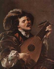 Hendrick ter Brugghen: le joueur de luth. 1624 Huile sur toile, 100,5 x 78,7 cm. Londres, National Gallery