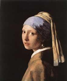 Jan Vermeer: jeune fille à la boucle d'oreille en perle. Vers 1665. Huile sur toile, 46,5 x 40 cm. La Haye, Mauritshuis