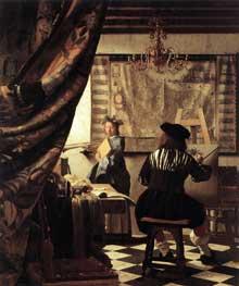 Jan Vermeer: l'art de la peinture. 1665-1667. Huile sur toile, 120 x 100 cm. Vienne, Kunsthistorisches Museum.