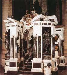 Hendrik de Keyser: tombe de Guillaume le taciturne. 1614-1620. Marbre et bronze, 7,65m. Delft, Nieuwe kerk