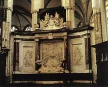 Rombaud Verhulst: tombeau de l'amiral Ruyter. 1681. Marbre. Amsterdam, Nieuwe kerk