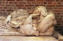 Rombaud Verhulst: tombeau de Johann Polyander van Kerchoven. 1663. Marbre.  Leyde, Pieterskerk