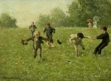 Erik Werenskjold (1855-1938):jeux d'enfants. 1881. Huile sur toile. Paris