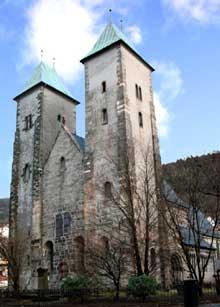 Bergen en Norvège: la cathédrale