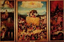 Hiéronimus Bosch (1450-1516): Le chariot de foin. 1500-1502 Huile sur panneau de bois, 135 190 cm. Madrid, musée du Prado. (Histoire de l'art - Quattrocento