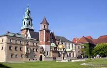 Cracovie: la cathédrale de Wawel. Vue générale