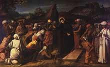 André Reinoso: un Miracle de Saint François Xavier. 1619. Huile sur toile. Eglise san Roque, Lisbone