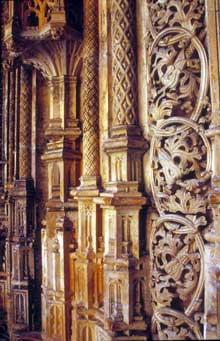 Alcobaça: façade de l'abbatiale. Détail