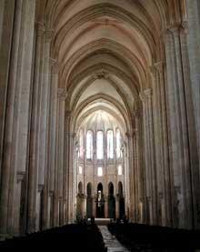 Alcobaça: la nef de l'abbatiale