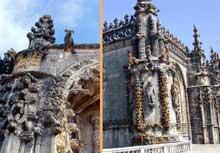 Tomar: couvent du Christ. Sculptures. (Histoire de l'art - Quattrocento