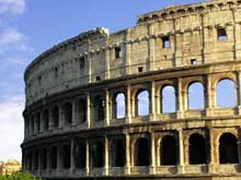 Rome: le Colisée: un bel exemple d'utilisation de l'arc romain