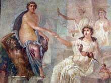 Herculanum: fresque représentant Artémis