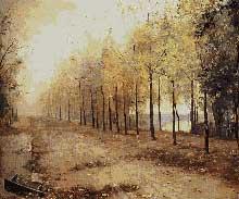 Marie Bashkirtseff (1858-1884): L'automne. 1883. Huile sur toile, 97X117 cm. Saoint-Pétersbourg, musée de l'Ermitage