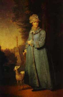 Vladimir Borovikovsky. Portrait de CatherineII, Impératrice de Russie. 1794. Huile sur toile. Moscou, galerie Tretiakov