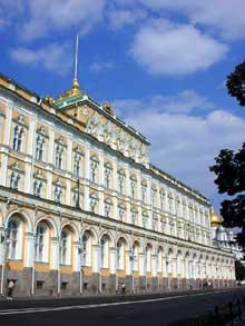 Moscou: le palais du Kremlin