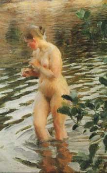 Anders Zorn (1860-1920): la frileuse. 1894. Huile sur toile. 98 x 66cm