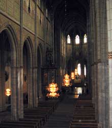 Uppsala, la cathédrale saint Eric. La nef