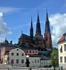 Uppsala: vue générale de la cathédrale