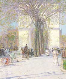 Frederick Childe Hassam (1859-1935): Washington Arch, printemps. 1893. Phillips Collection, Washington, D.C