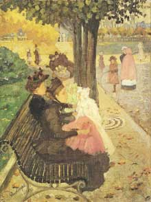Maurice Brazil Prendergast (1858-1924): le jardin des Tuileries. 1895